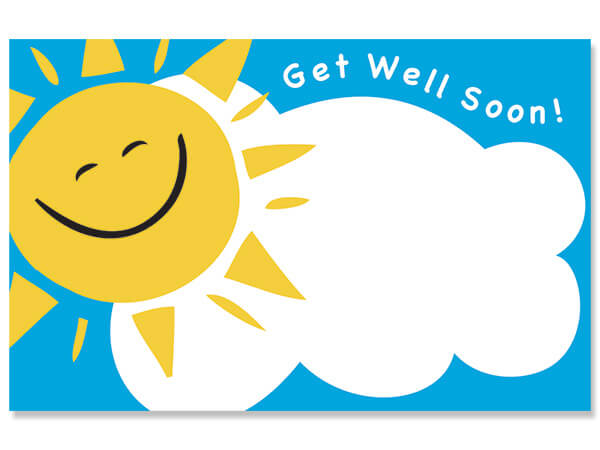 "Get Well Soon Enclosure Gift Card, 3.5x2.25"", 50 Pack"