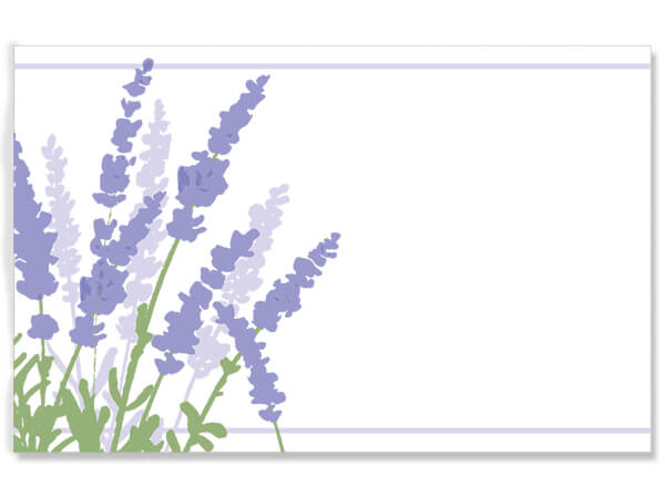 "Lavender Field 3-1/2"" x 2-1/4"" Enclosure Card"