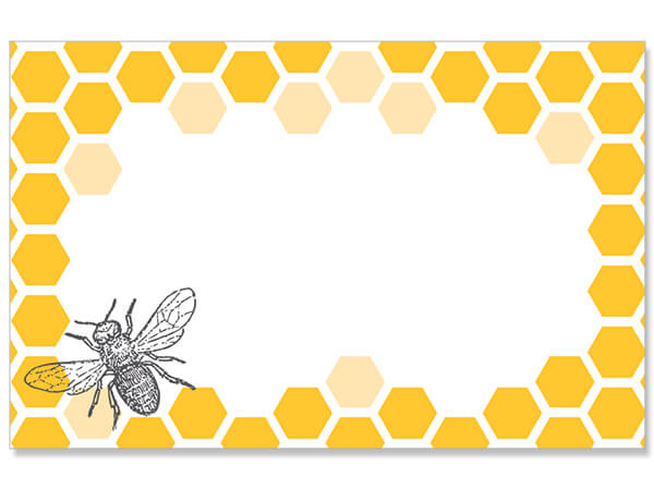 "Bee and Honeycomb 3-1/2"" x 2-1/4"" Enclosure Card"