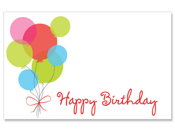 "Happy Birthday Balloon Bouquet Enclosure Card, 3.5x2.25"", 50 Pack"