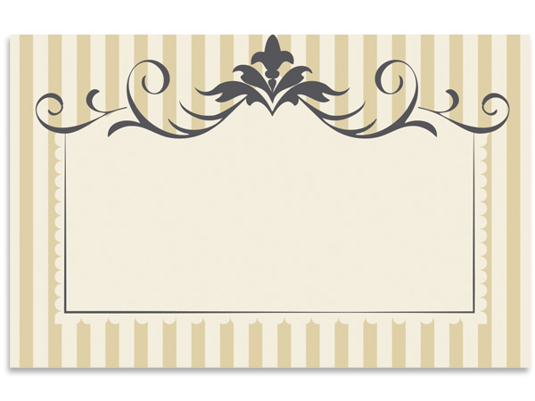 "Flourish Stripe 3-1/2"" x 2-1/4"" Enclosure Card"