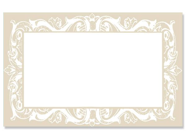 "Pearl Lace Border 3-1/2"" x 2-1/4"" Enclosure Card"