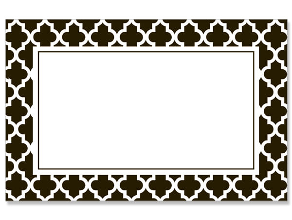 "Geo Graphics Tiles Black 3-1/2"" x 2-1/4"" Enclosure Card"