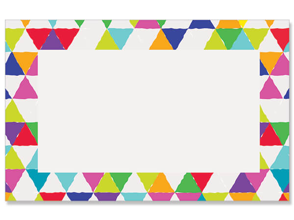 "Bright Mosaic Border Enclosure Gift Card, 3.5x2.25"", 50 Pack"