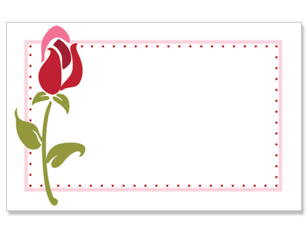 "Rose Stem Border Enclosure Gift Card, 3.5x2.25"", 50 Pack"