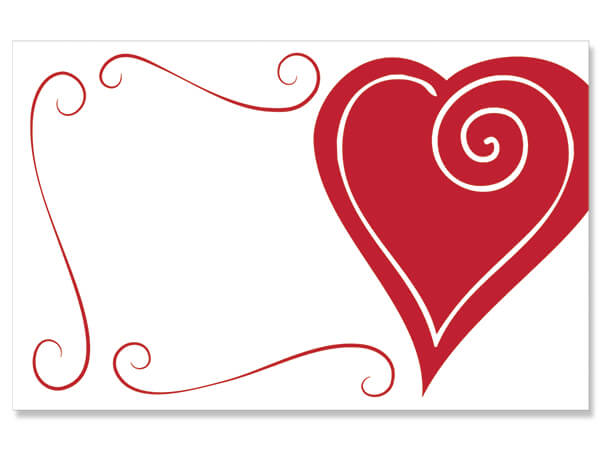 "Heart Swirl Border Enclosure Gift Card, 3.5x2.25"", 50 Pack"
