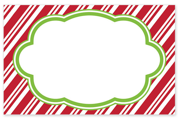 Candy Cane Stripe No Sentiment Enclosure Cards