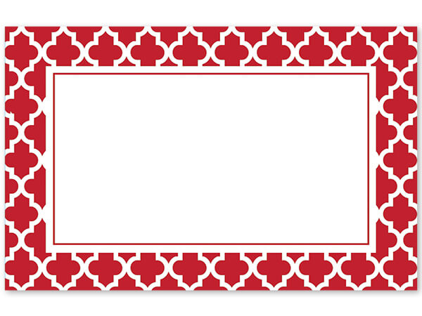 Graphic Red Tiles Enclosure Card