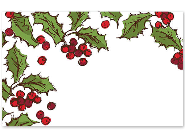 "Holly Berry Enclosure Cards, 3.5x2.25"", 50 Pack"