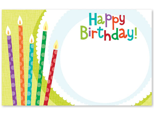 "Happy Birthday Candles Enclosure Card, 3-1/2x2-1/4"", 50 Pack"