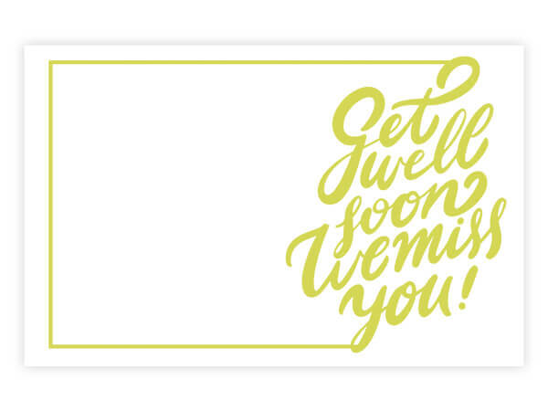"Get Well Soon Script Enclosure Gift Card, 3.5x2.25"", 50 Pack"