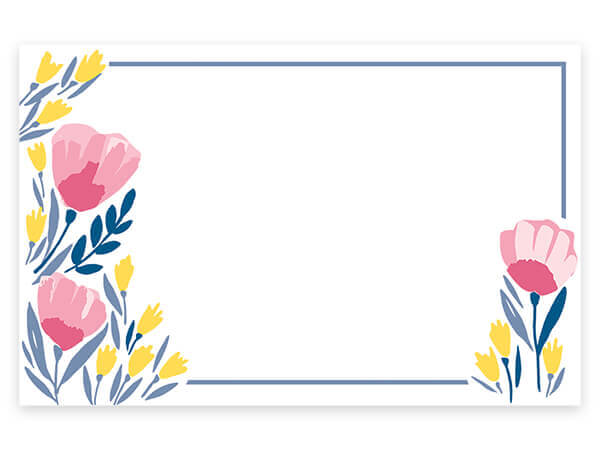 "Pink Petals Enclosure Gift Card 3.5x2.25"", 50 Pack"