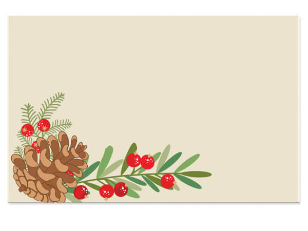 """Pinecone Berry Enclosure Gift Card 3.5x2.25"""", 50 Pack"""