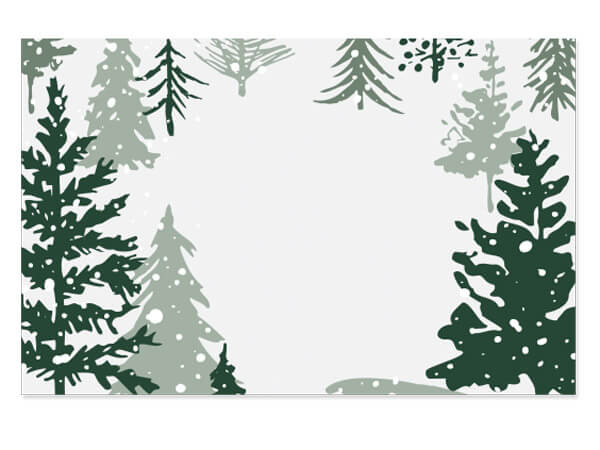 """Snowy Pines Enclosure Gift Card 3.5x2.25"""", 50 Pack"""