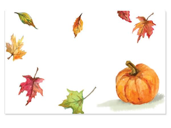 "Fall Pumpkin Enclosure Gift Card 3.5x2.25"", 50 Pack"