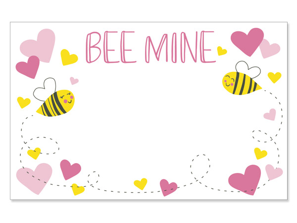 """Bee Mine Enclosure Gift Card 3.5x2.25"""", 50 Pack"""