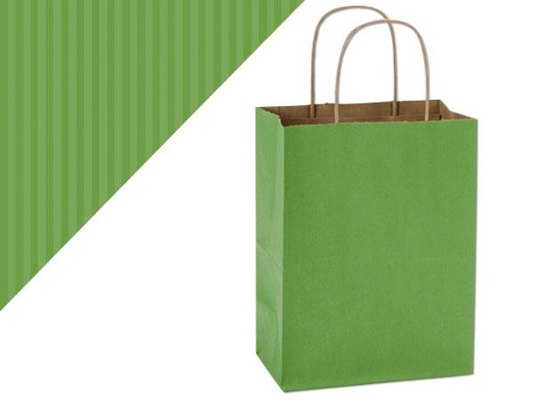 "Cub Apple Green Shadow Stripe Bags 250 Pk 8-1/4x4-3/4x10-1/2"""