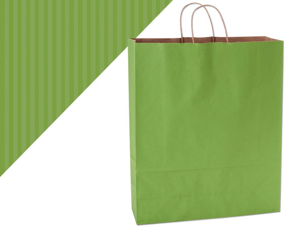 Queen Apple Green Shadow Stripe Bag 25 Pk 16x6x19-1/4""