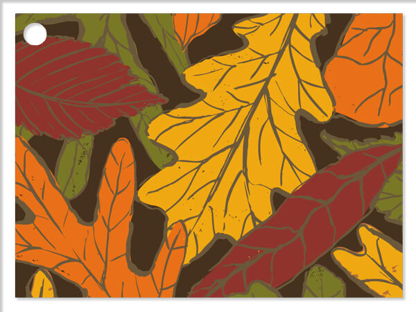 Autumn Leaves Gift Cards 3-3/4x2-3/4""