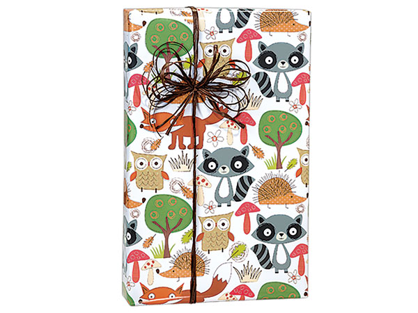 "Forest Friends 24""x85' Roll Gift Wrap"