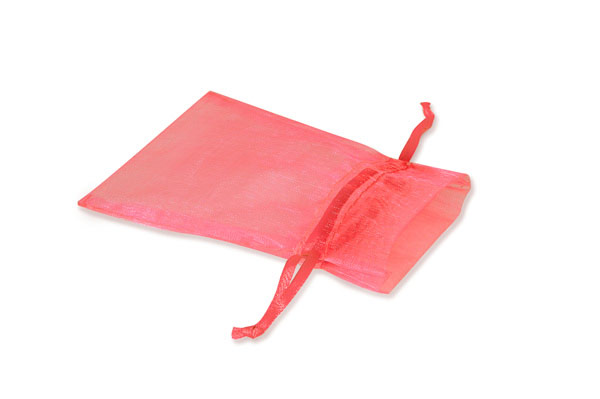 """Coral Rose Pink Organza Favor Bags, 4x6"""", 10 Pack"""