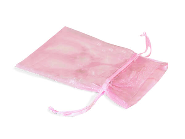 "Pink Organza Favor Bags, 3x4"", 10 Pack"
