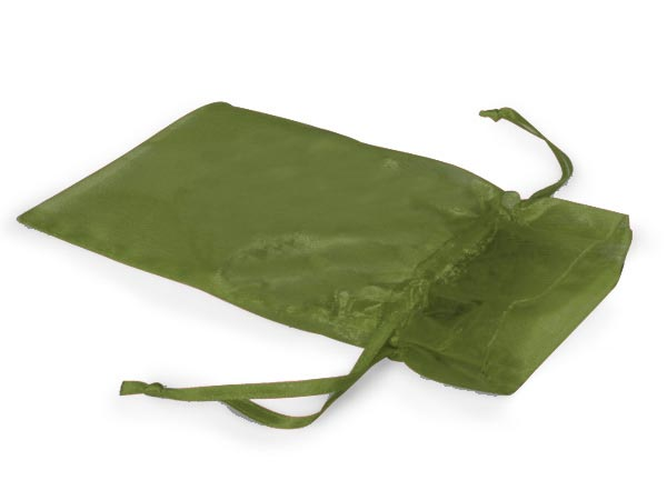 "Moss Green Organza Favor Bags, 3x4"", 10 Pack"