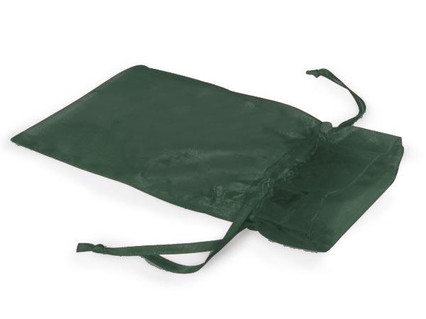 "Hunter Green Organza Favor Bags, 3x4"", 10 Pack"