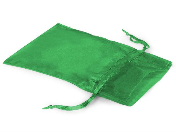 "Emerald Green Organza Favor Bags, 3x4"", 10 Pack"