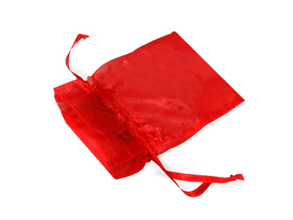 "Red Organza Bags 2x2-1/2"" 2x2.5"", 10 Pack"