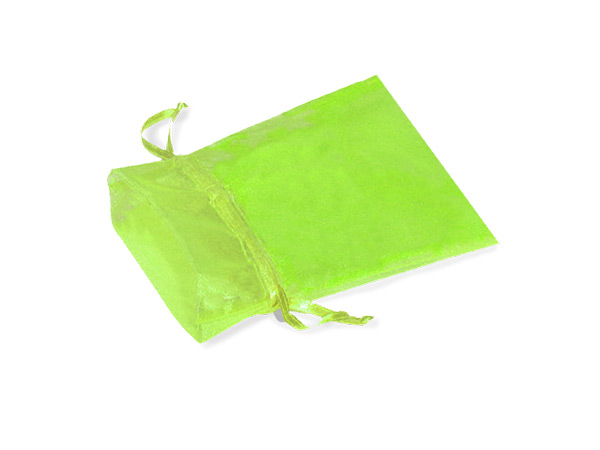"Citrus Green Organza Favor Bags, 2x2.5"", 10 Pack"