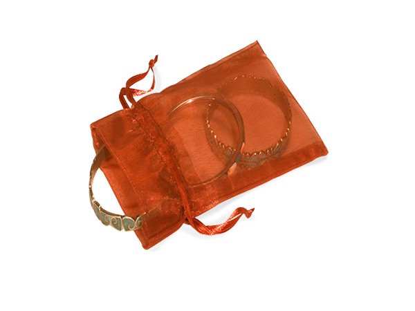 "Copper Organza Favor Bags, 2x2.5"", 10 Pack"
