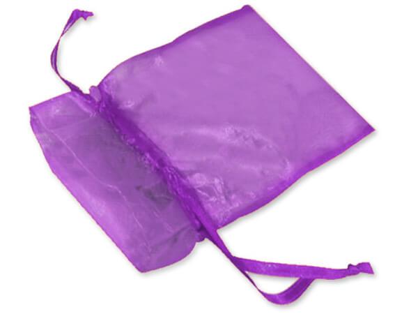 "Purple Organza Favor Bags, 2x2.5"", 10 Pack"