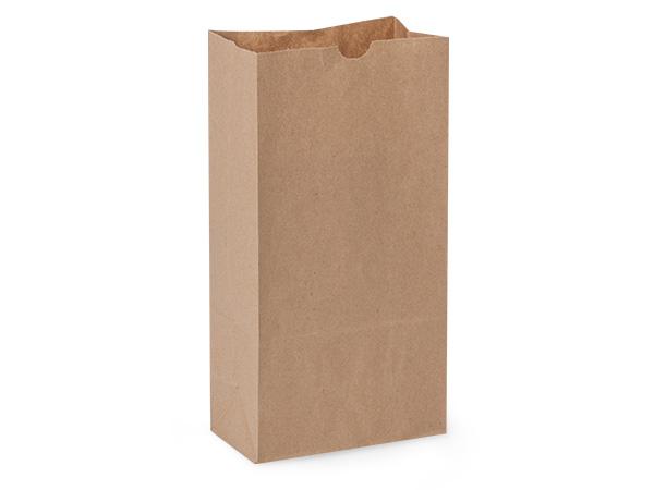 "Recycled Brown Kraft Gift Sack, 12 lb Bag 7x4.25x13.75"", 500 Pack"
