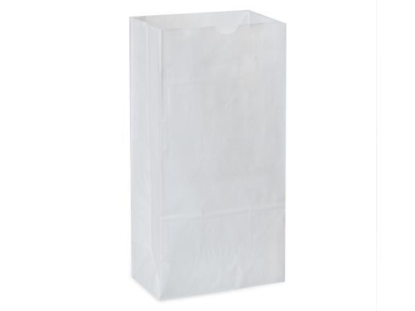 "500 12lb Gift Sacks White Kraft 7-1/16x4-3/16x13-3/4"""