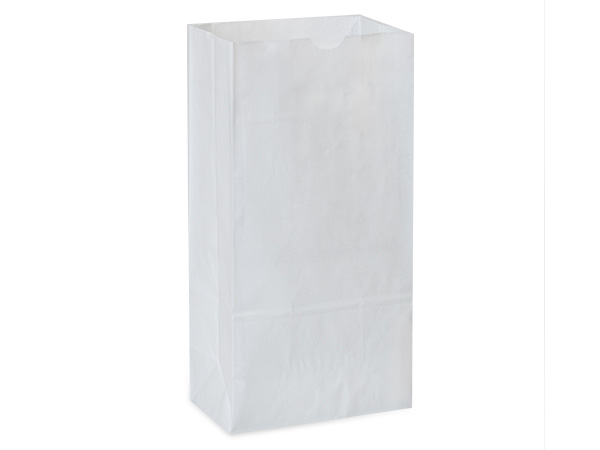 "White Kraft Gift Sack, 12 lb Bag 7x4.25x13.75"", 50 Pack"