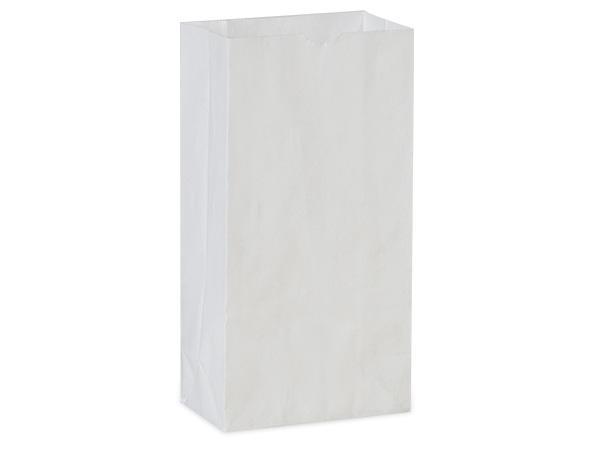 """White Kraft Gift Sack, 2 lb Bag 4.25x2.25x8"""", 50 Pack"""