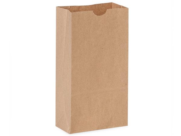 "Recycled Brown Kraft Gift Sack, 4 lb Bag 5x3x9.5"", 500 Pack"
