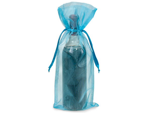 "*Robins Egg Organza Wine, 6.5x15"", 10 Pack"