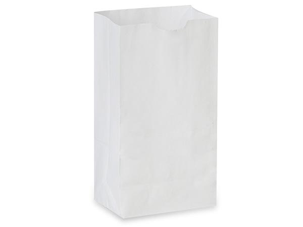 """White Kraft Gift Sack, 6 lb Bag 6x3.5x11"""", 500 Pack"""