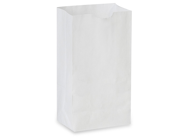 "White Kraft Gift Sack, 6 lb Bag 6x3.5x11"", 50 Pack"