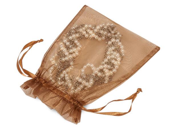 Copper Sheer Organza bags