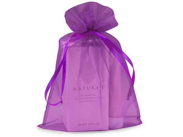 "Purple Organza Favor Bags, 8x11"", 10 Pack"
