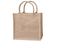 Custom Printed Brown Burlap Tote Bags