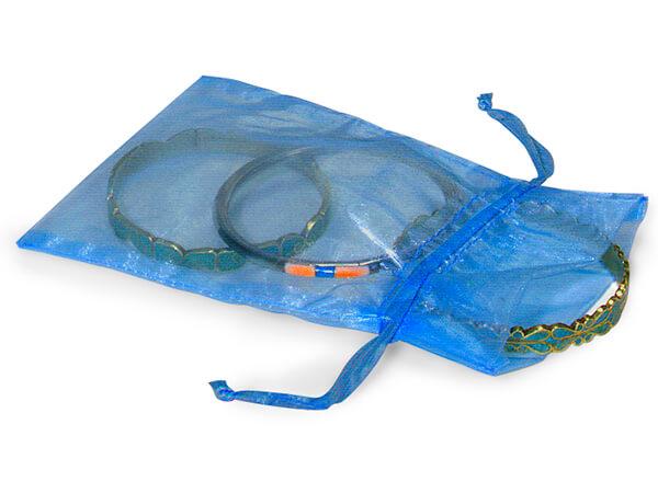 "Royal Blue Organza Favor Bags, 5x7"", 10 Pack"