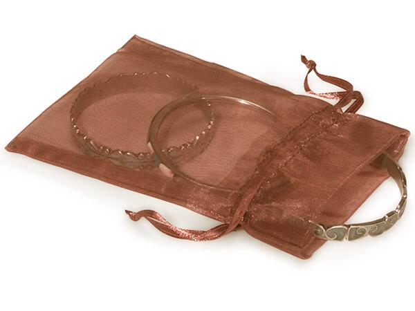 "Copper Organza Favor Bags, 5x7"", 10 Pack"