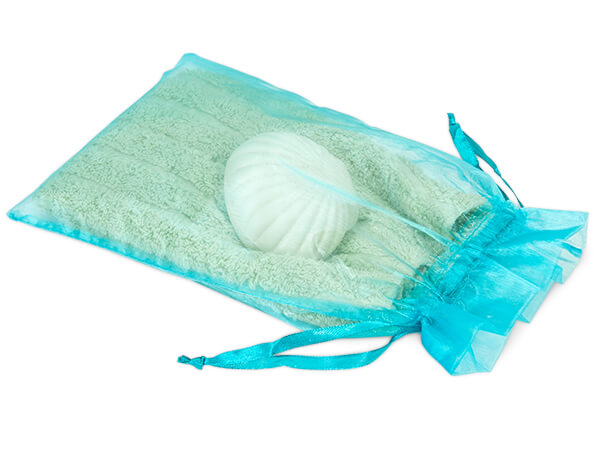 "Robins Egg Blue Organza Favor Bags, 6x10"", 10 Pack"
