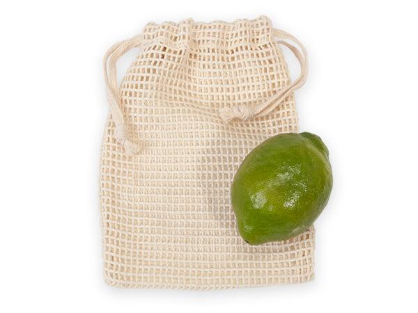 "Cotton Net Drawstring Bag, Medium 5x7"", 12 Pack"