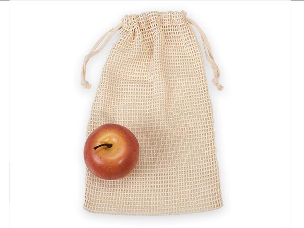 """Cotton Net Drawstring Bag, Medium Tall 6-1/2""""x12"""", 12 Pack"""