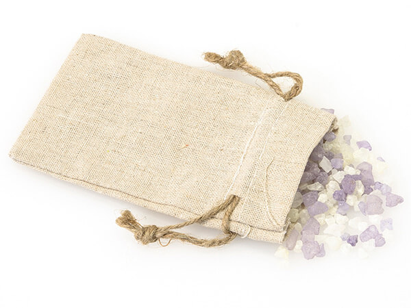 "Linen Favor Bags with Drawstrings, X-Small 3x5"", 12 Pack"